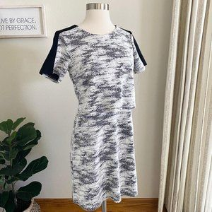 Oasis Tiered Marled Tiered Dress Small